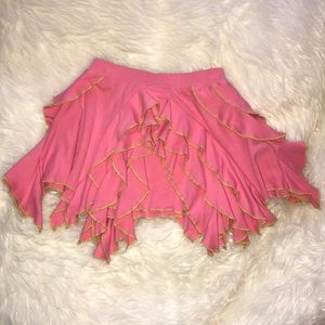Lemon Loves Lime Girls Pink Ruffle Skirt